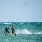 Girls kiting in Tarifa
