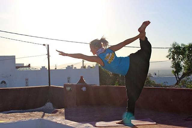 Yoga Asana on a roof